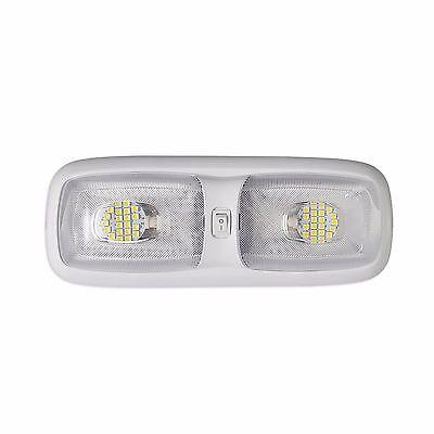 RV LED 12v FIXTURE DOUBLE DOME LIGHT 4200K NATURAL WHITE CAMPER TRAILER MARINE