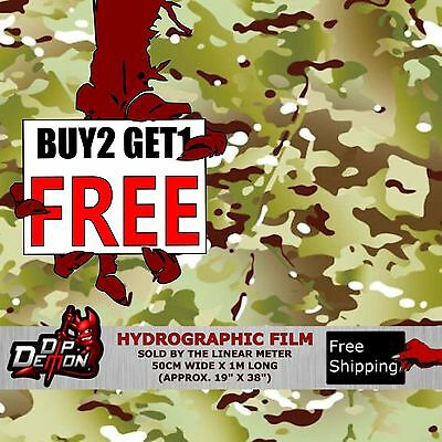 Lm G.i.joe Camo Hunting Hydrographic Water Transfer Film Hydro Dipping Dip Demon