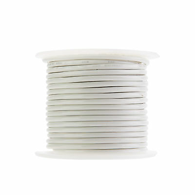 14 Awg Gauge Solid Thhn Wire White 100 Ft 0.102 600 Volts Building Wire
