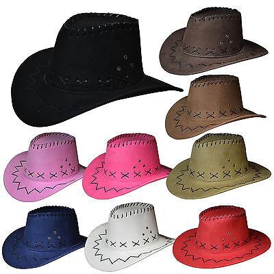 Kinder Cowboy hut Gr.54 Westernhut Cowboy Hut Wildleder-Optik junge Mädchen Hut  ()