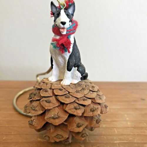 Bull Terrier Christmas Pinecone Pet Ornament Use Year Round As Decor New Gift