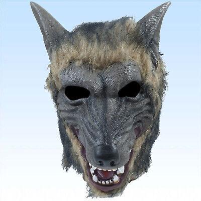 Wolfsmaske Maske Wolf Wolfmaske Vollmaske Tiermaske Fasching Karneval Maskerade (Tier Maskerade Masken)
