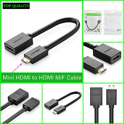 Mini HDMI Type C Male to HDMI Female Type A Adapter cable M/
