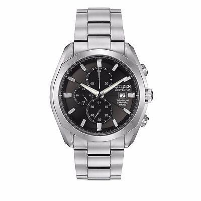Citizen Eco-Drive Men's CA0020-56E Titanium Chronograph Bracelet 43mm Watch