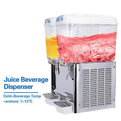 2 Tank Commercial Juice Beverage Dispenser Machine Frozen Cold Fruit Drink
