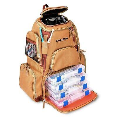 Calissa Offshore Tackle X-Large 'Blackstar' Fishing Tackle Backpack Box Bag Tray