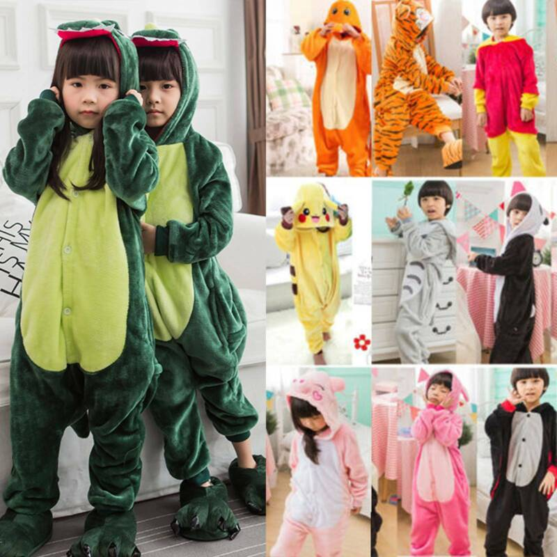 Halloween Kids Girls Boys Pajamas Animal Cosplay Costume Pro