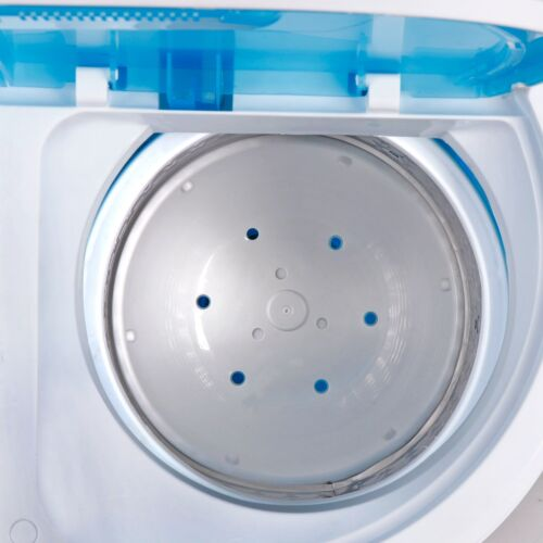Twin Tub Washing Machine Timer Independent Draining Washer Blue Clear Body Home & Garden