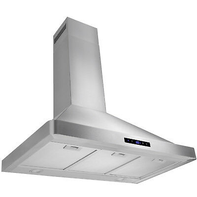 """GTC Europe 36"""" Kitchen Wall Mount Stainless Steel Range Hood Stove Vents w/ LED"""
