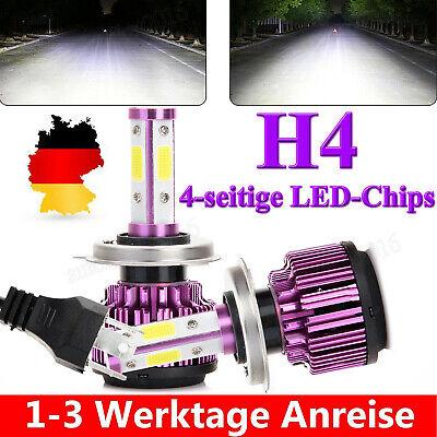 2X H4 LED Scheinwerfer Kit 1200W Fern- / Abblendlicht COB 6000K VS Xenon Halogen