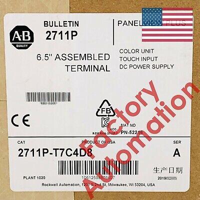20182019 Us Stock Allen-bradley Panelview Plus Terminal 2711p-t7c4d8