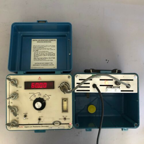 Megger / BIDDLE 247000 DLRO Digital Low Resistance Ohmmeter with Charger