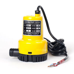 Dpw69 12 dc 12v 100w small submersible water pump 1100gph for Small garden pond water pumps