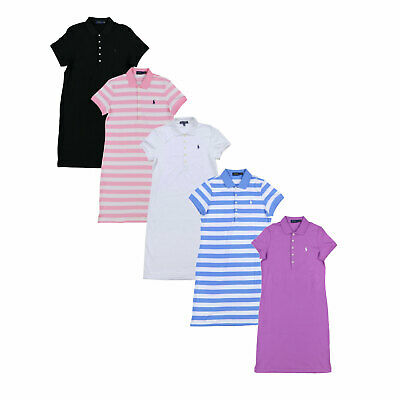 Polo Ralph Lauren Womens Dress Interlock Knit Pony Logo Short Sleeve New S M L