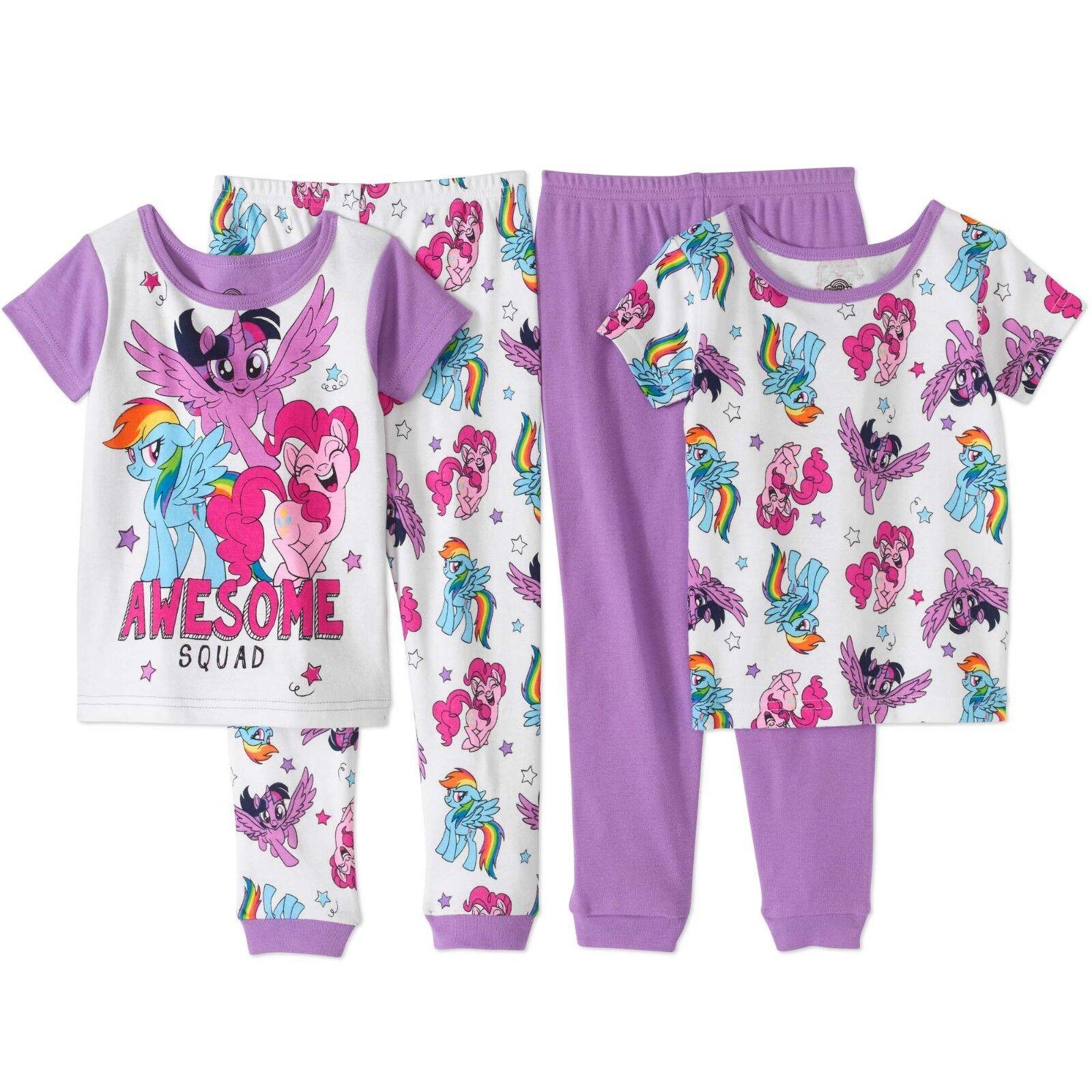 My Little Pony 4 PC Short Sleeve Tight Fit Cotton Pajama Set