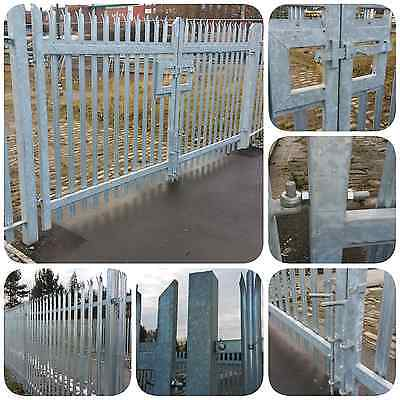 Palisade Gate  Double Leaf Gate 5.0m x 2.0m High Galvanised - £660 + VAT