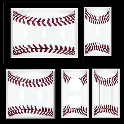 BASEBALL  LIGHT SWITCH COVER PLATE  OR OUTLET SPORTS -