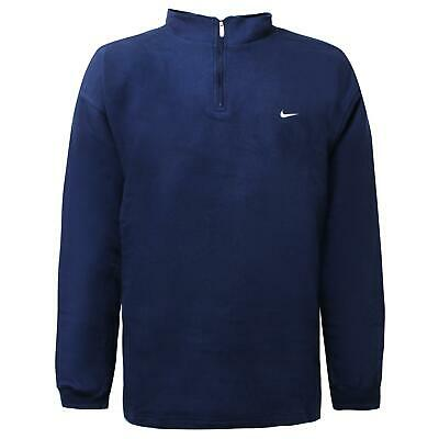 Nike Mens Half Zip Track Top Fleece Sweatshirt Navy Jumper 163545 451 XXL