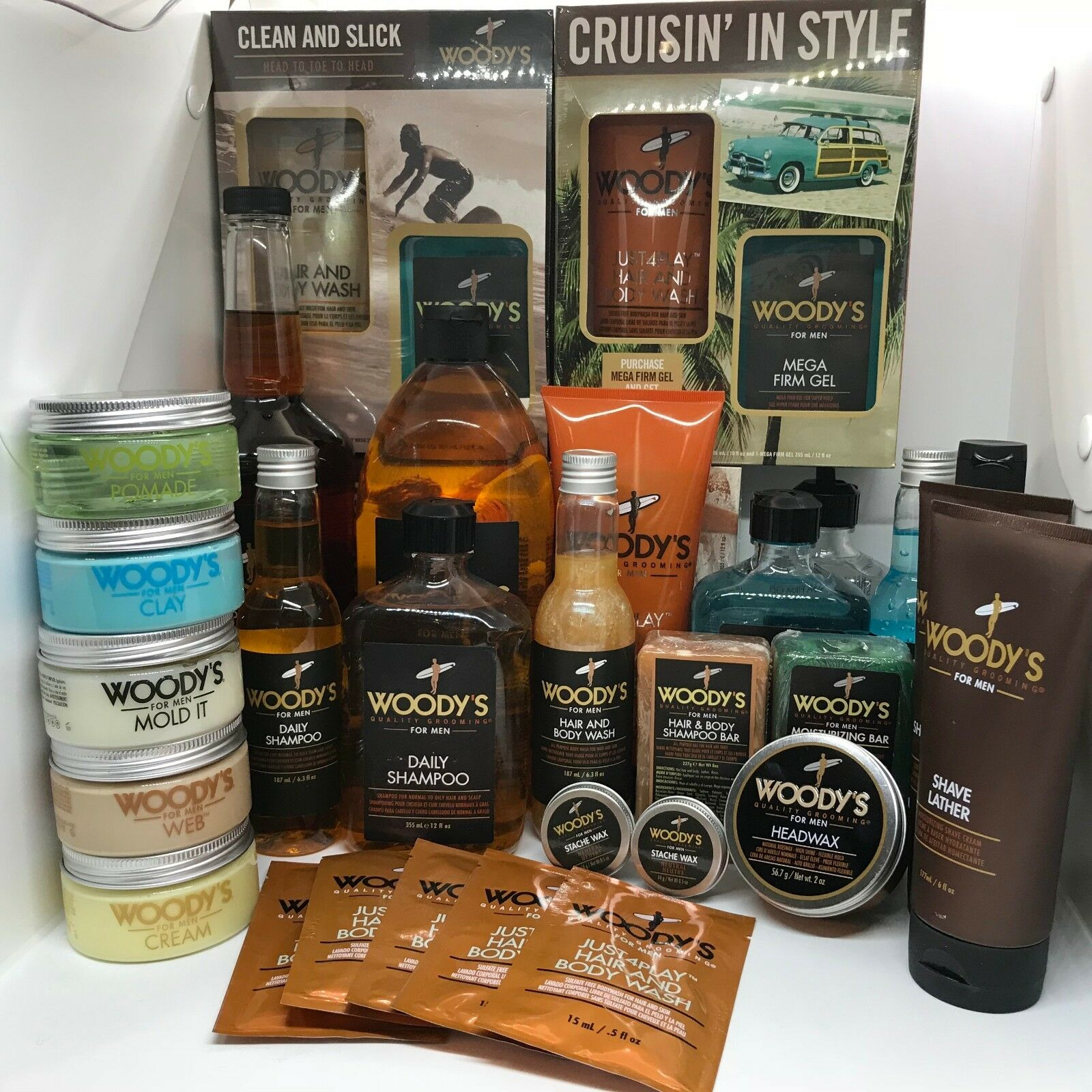Woody's Quality Grooming for Men! Pick from Hair Gel, Shampo