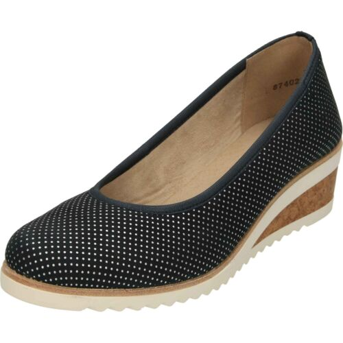 LADIES REMONTE TOE SANDALS WEDGE DETAIL SPOTTED STRAP ANKLE