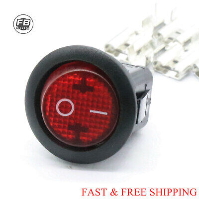 New Canal Mr Series Round Rocker Switch Illuminated Red 16a 12a 4 Pin