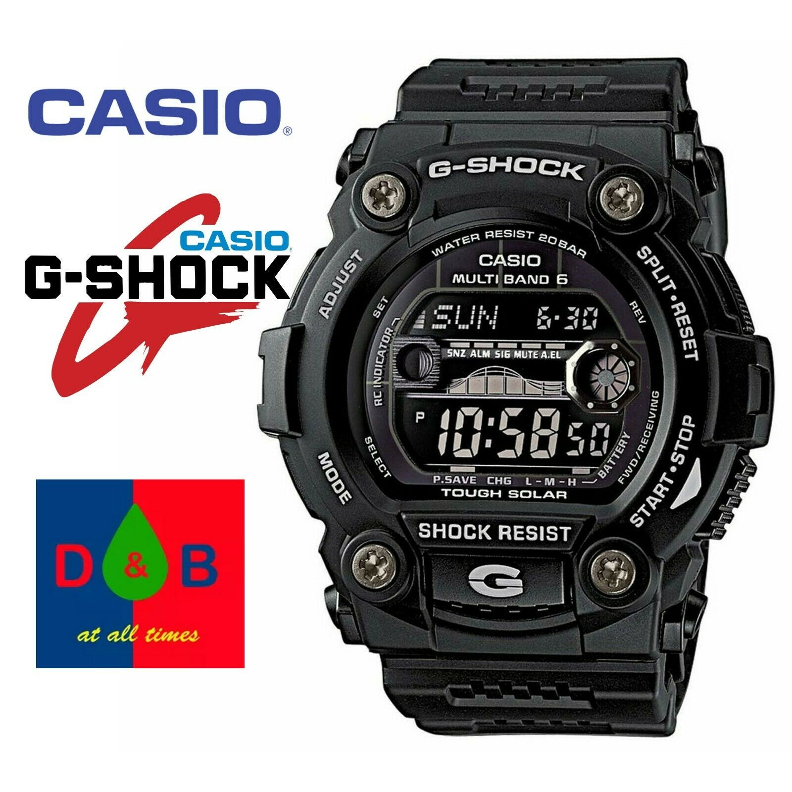 Casio G shock Gw m5610bb 1 Solar Radio Controlled Glossy  4A97y
