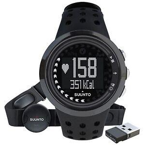 Suunto-M5-All-Black-Mens-HRM-Heart-Rate-Monitor-Sports-Watch-Movestick-Mini