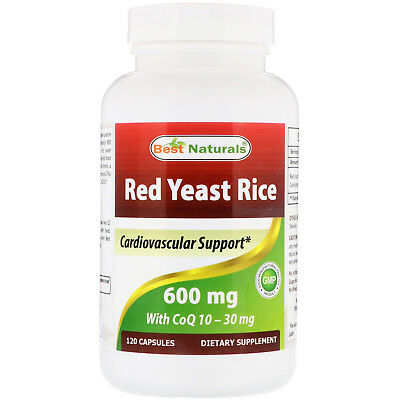 Best Naturals, Red Yeast Rice, with CoQ10, 600 mg, 120