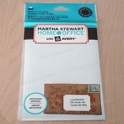 Martha Stewart Home Office With Avery Printable Weatherproof Outdoor Labels 12