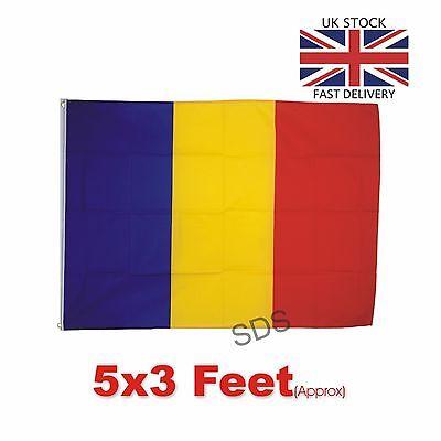 ROMANIA ROMANIAN FLAG 5FT X 3FT