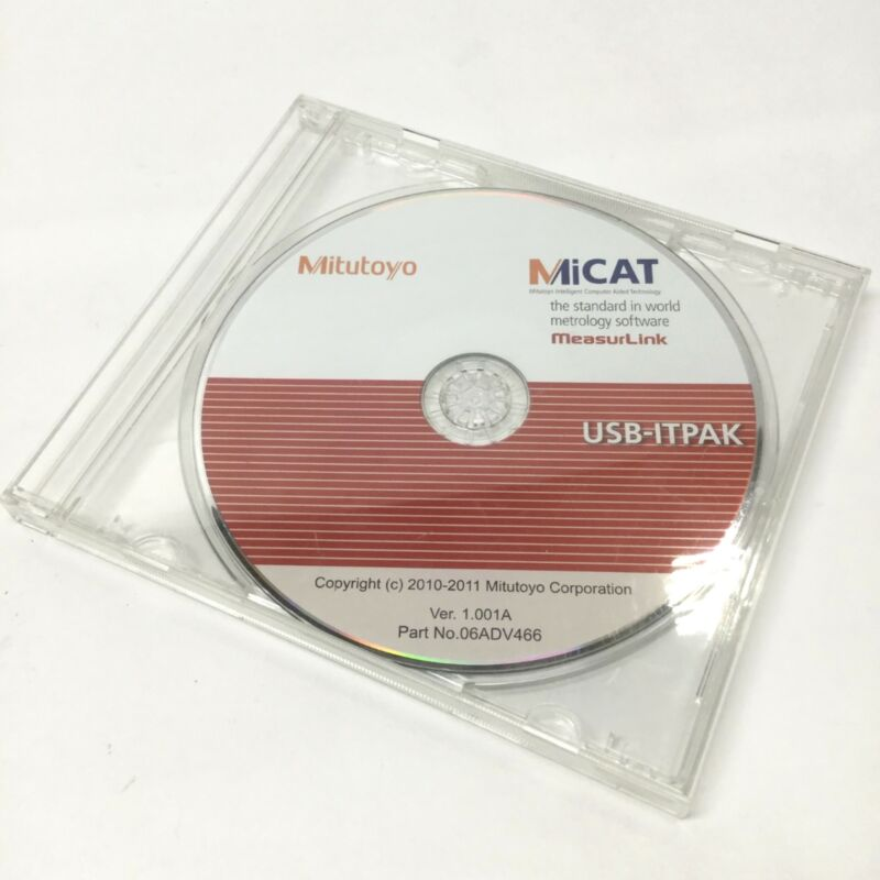 Mitutoyo USB-ITPAK Ver 1.001A Measurement Data Collection Input Tool Software CD