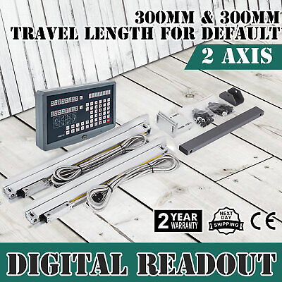 2 Axis Dro For Milling Lathe Machine 2 Linear Scales Digital Readout Meter Fs