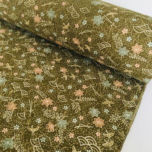 Basho Poem Wool Bolt BY THE YARD UnUsed Japanese Kimono Fabric High Quality BW3