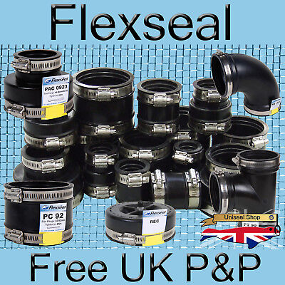 Flexible Tanks (Flexseal (Fernco) Genuine Flexible EPDM Rubber Boot Pipe Tank Connector Coupling)