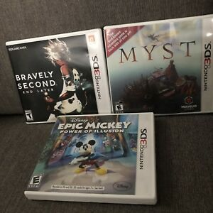 3DS Game Collection, Myst, Bravely Second