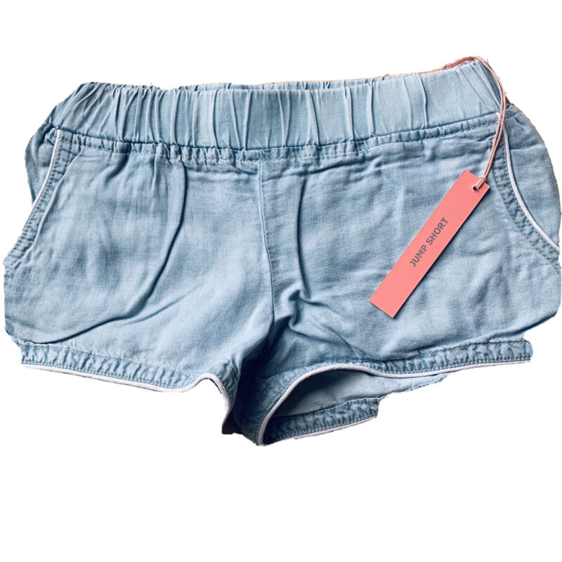 BLANK NYC Tencel Jump Shorts Blue Girl's Size 8 NEW
