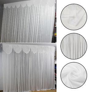 3m X White Stage Wedding Backdrop Photography Background Drape Curtains Uk