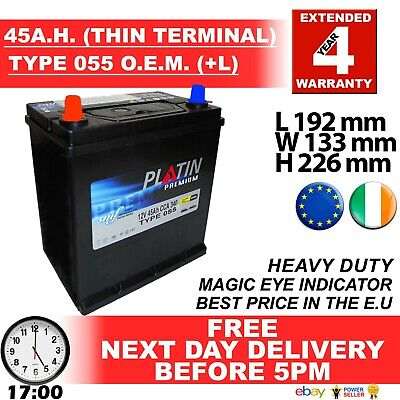 055 +L JAP Car Battery fits many Daihatsu Honda Mazda Mitsu Nissan Suzuki Toyota