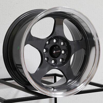 15x9 Vors SP1 4x100/4x114.3 20 Hyper Black Wheels Rims Set(4) 73.1