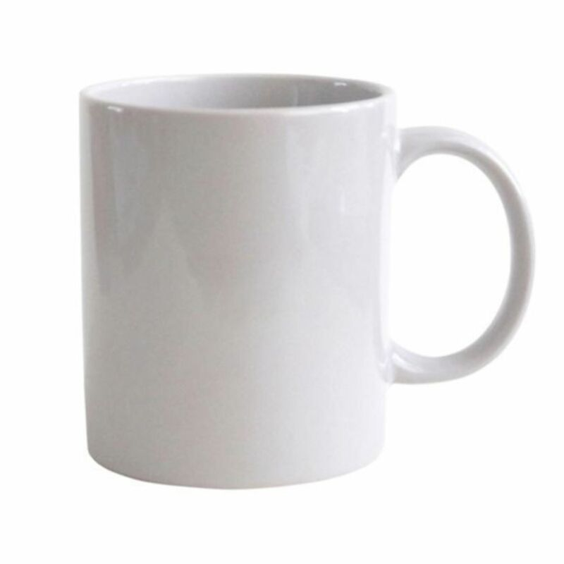 1pcs Plain Mug Cup Gloss White Ceramic Tea Coffee Drinking Mugs