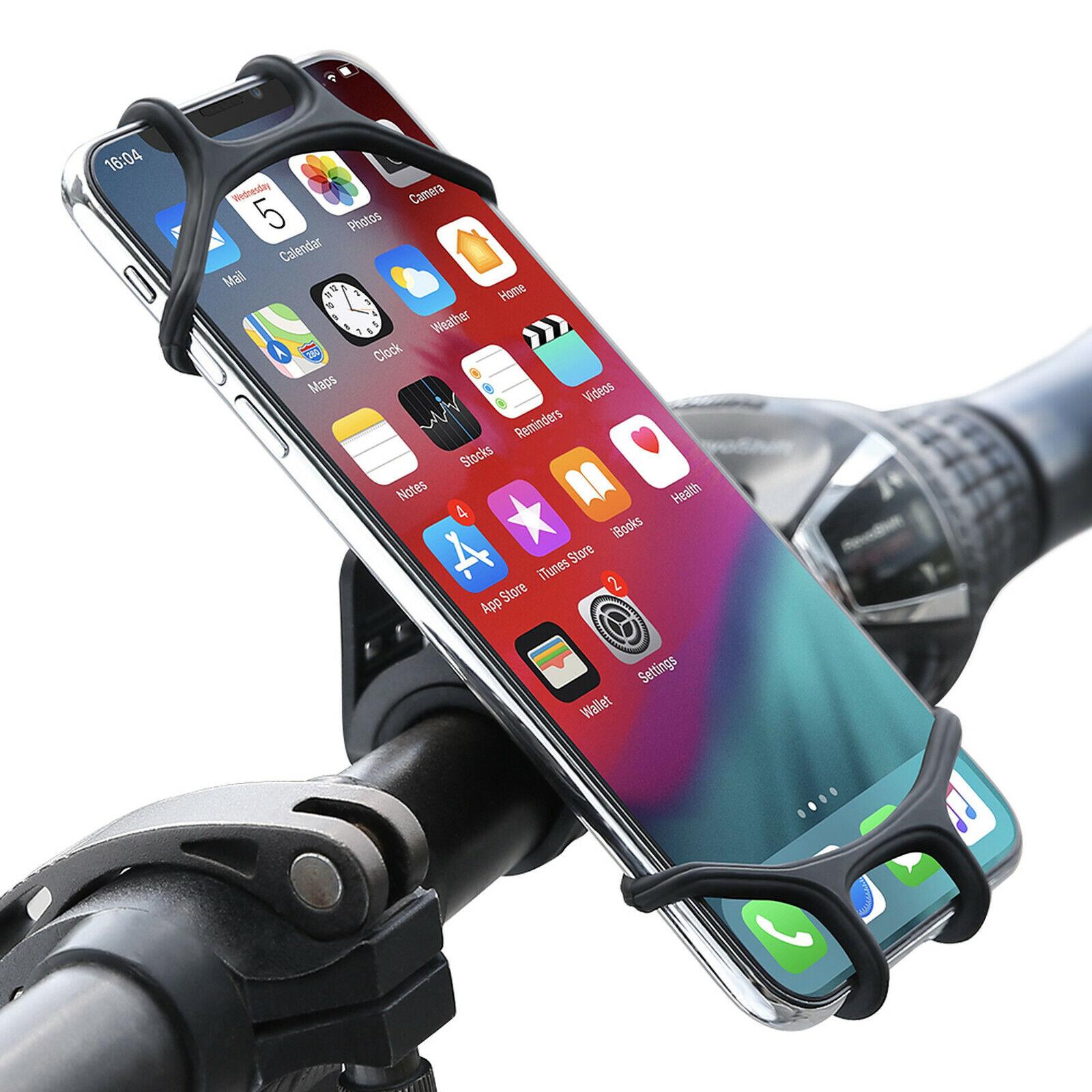 Handyhalterung Fahrrad Motorrad Silikon Universal Lenker Handy Halterung Halter