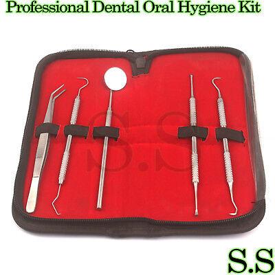 Professional Dental Oral Hygiene Kit 5 Tools Deep Cleaning Scaler Teeth Pr-331