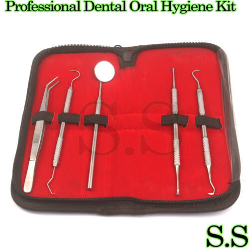 Professional Dental Oral Hygiene Kit 5 Tools Deep Cleaning Scaler Teeth Care Set