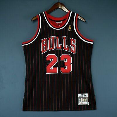 100% Authentic Michael Jordan Mitchell Ness 96 97 Bulls Jersey 36 44 48 Mens