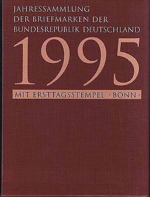Jahressammlung Bund 1995 mit Ersttagsstempel Bonn