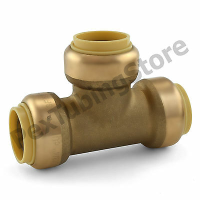 10 34 Sharkbite Style Push-fit Push To Connect Lead-free Brass Tees