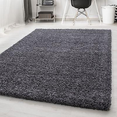 Chinesische Teppich (Hochflor Shaggy Teppich Langflor Pflegeleicht Einfarbig Teppich Grau )