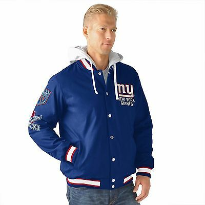 New York Giants Varsity 4 Time Super Bowl Champions Glory Jacket By  G Iii