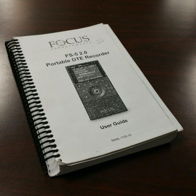 ORIGINAL USER GUIDE 220+ PAGES for Focus Enhancements FS-5 DTE Disc Recorder