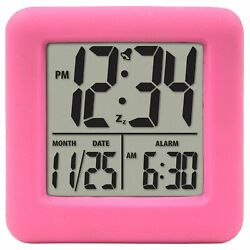 Pink Cube Alarm Clock Extremely Extra Loud For Kids Heavy Sleeper Atomic Waker